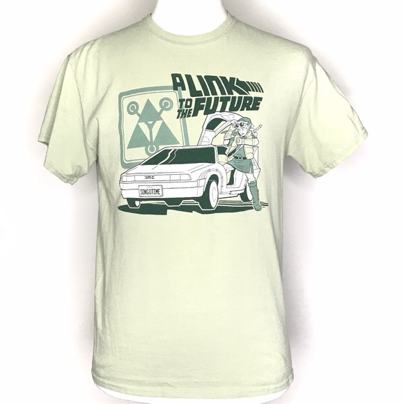Gildan Other - Link to the Future Green Graphic Tee Shirt A080535